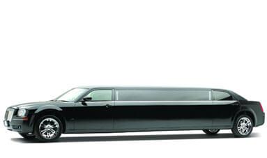 10 Passenger Black Chrysler 300 Limousine featured