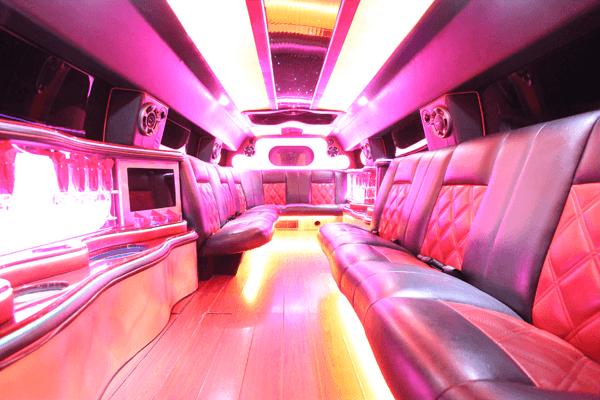 14 passenger hummer SUT limousine interior 1