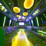Las Vegas 30 passenger Party Bus interior photo