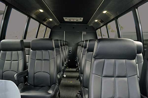 28 passenger shuttle bus interior