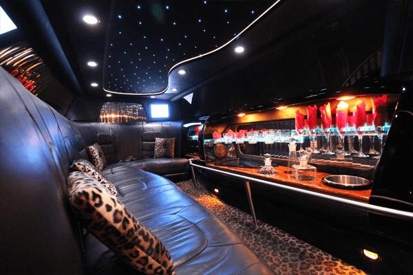 8 passenger cadillac limousine interior