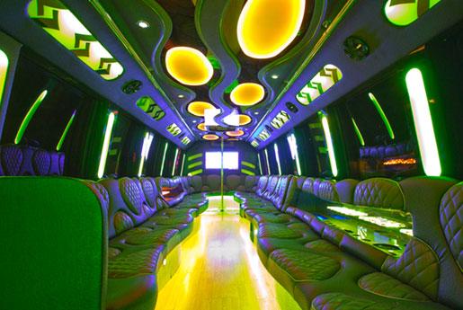 Las Vegas 30 passenger Party Bus interior photo